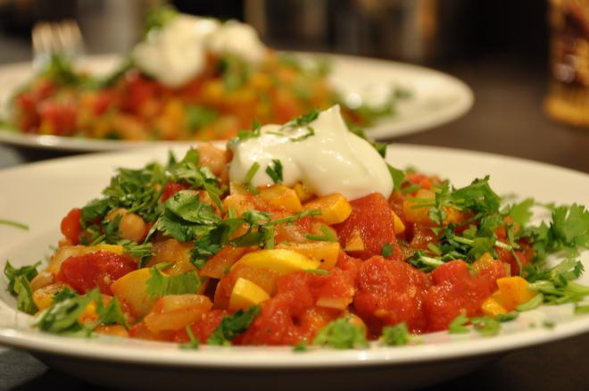 Chickpea and Summer Squash Tagine