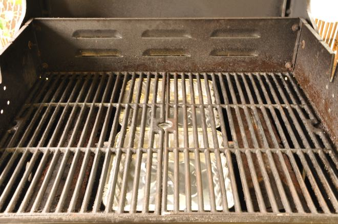 Grill Setup with Water Pans
