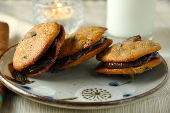 Homemade Nutella Cookie Sandwiches