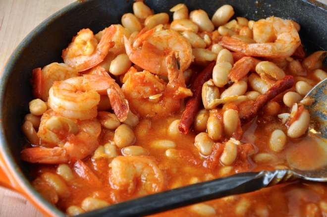 White Bean and Garlic Shrimp Stew