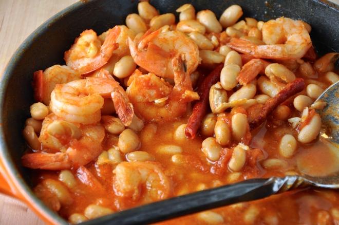 White Bean and Garlic Shrimp Stew