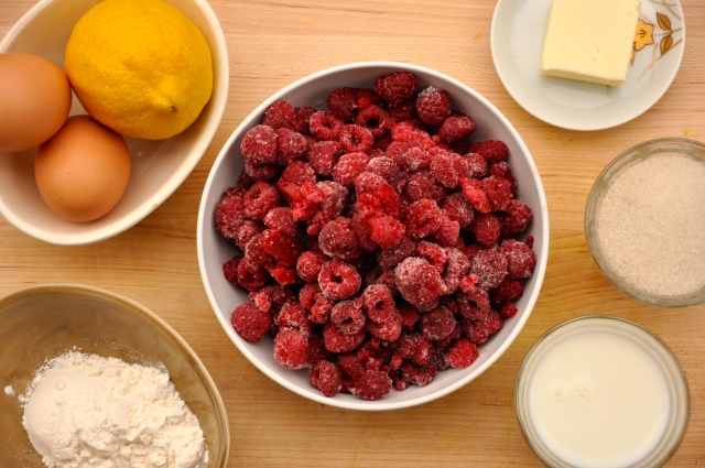 Summery Raspberry Pudding Cakes Ingredients