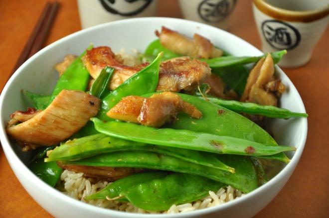 Chicken & Snow Pea Rice Bowl