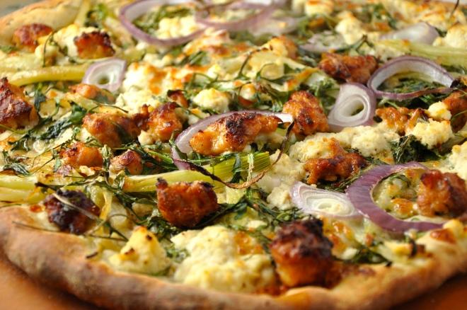 Sausage, Fennel & Ricotta Pizza