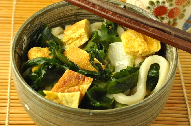 Udon Noodles in Mushroom Broth