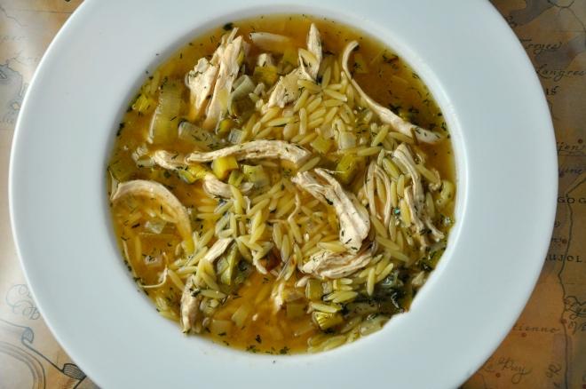 Lemony Chicken & Orzo Soup
