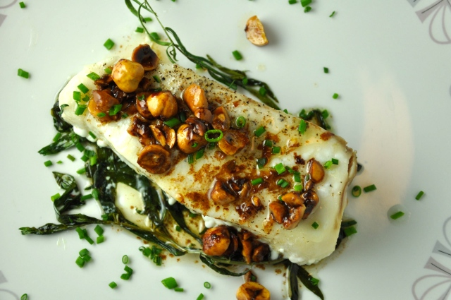 Halibut & Hazelnuts