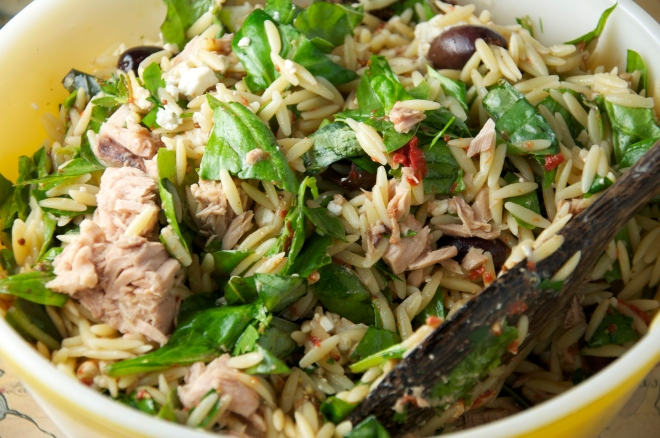 Orzo Spinach Salad - Perfect Picnic Fare