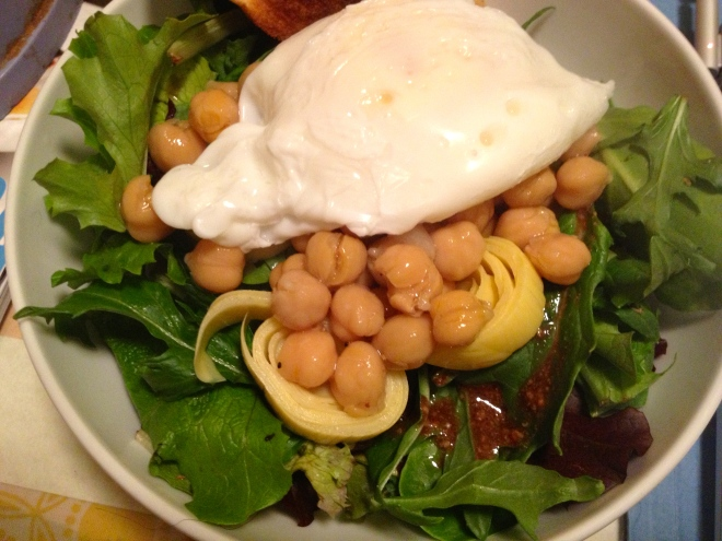Poached Egg on a Salad
