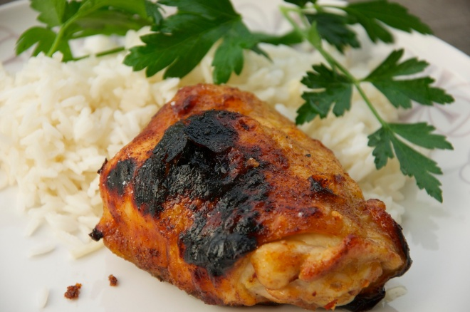 Spicy Broiled Chicken Thighs