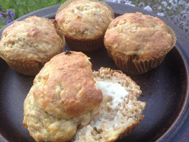 Low-Fat Banana Coconut Muffins