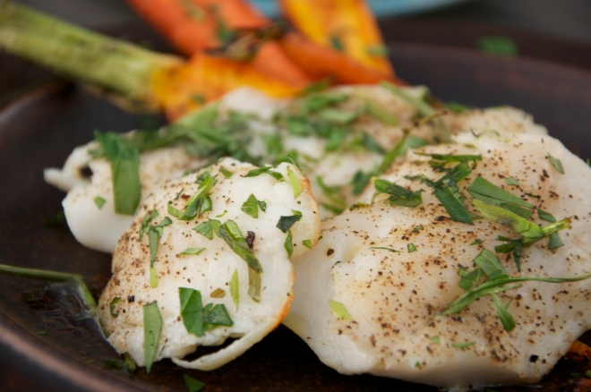Grilled Black Rockfish with Tarragon