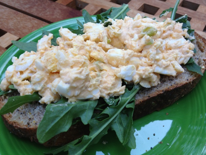 Spicy Egg Salad and Arugula