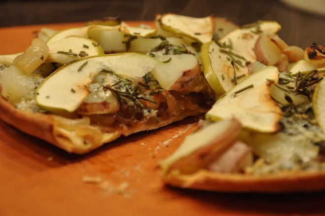 Apple, Potato, Rosemary & Blue Cheese Pizza