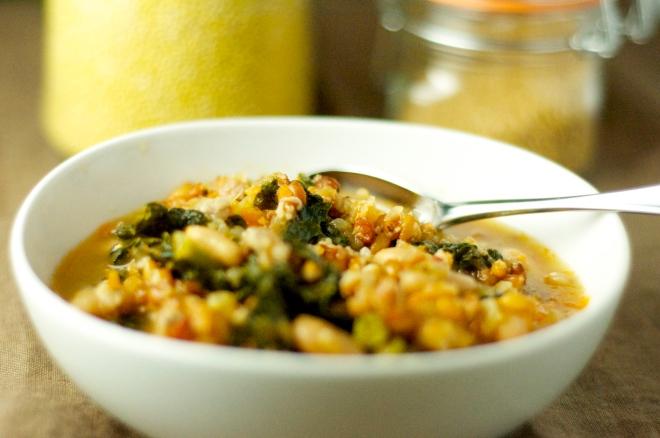 Farro & Tuscan Kale Soup
