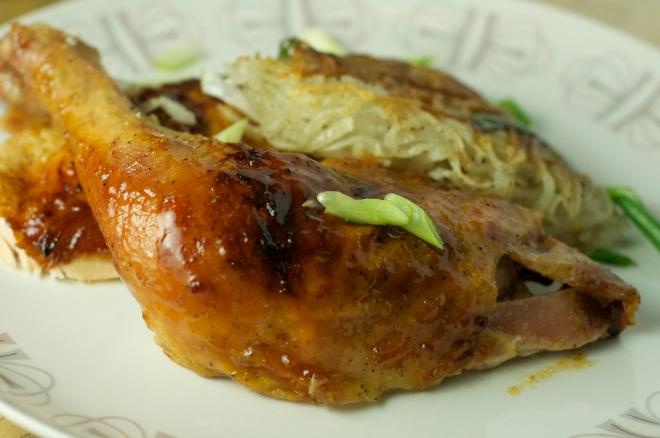 Maple-Orange-Dijon Glazed Roast Chicken