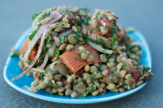 Lentil Salad with Roasted Tomatoes
