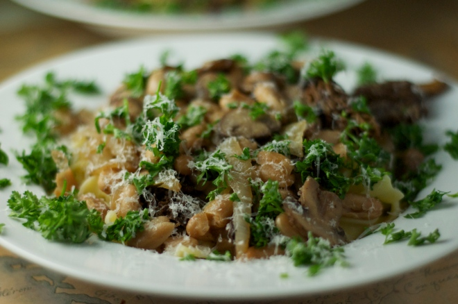White Bean and Morel Pasta
