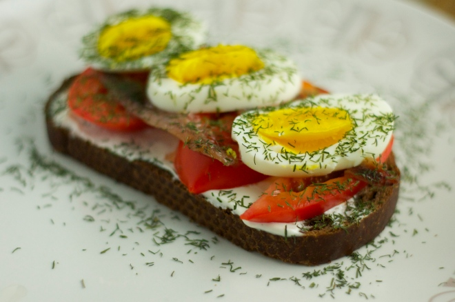 Anchovy & Egg Sandwich on Rye